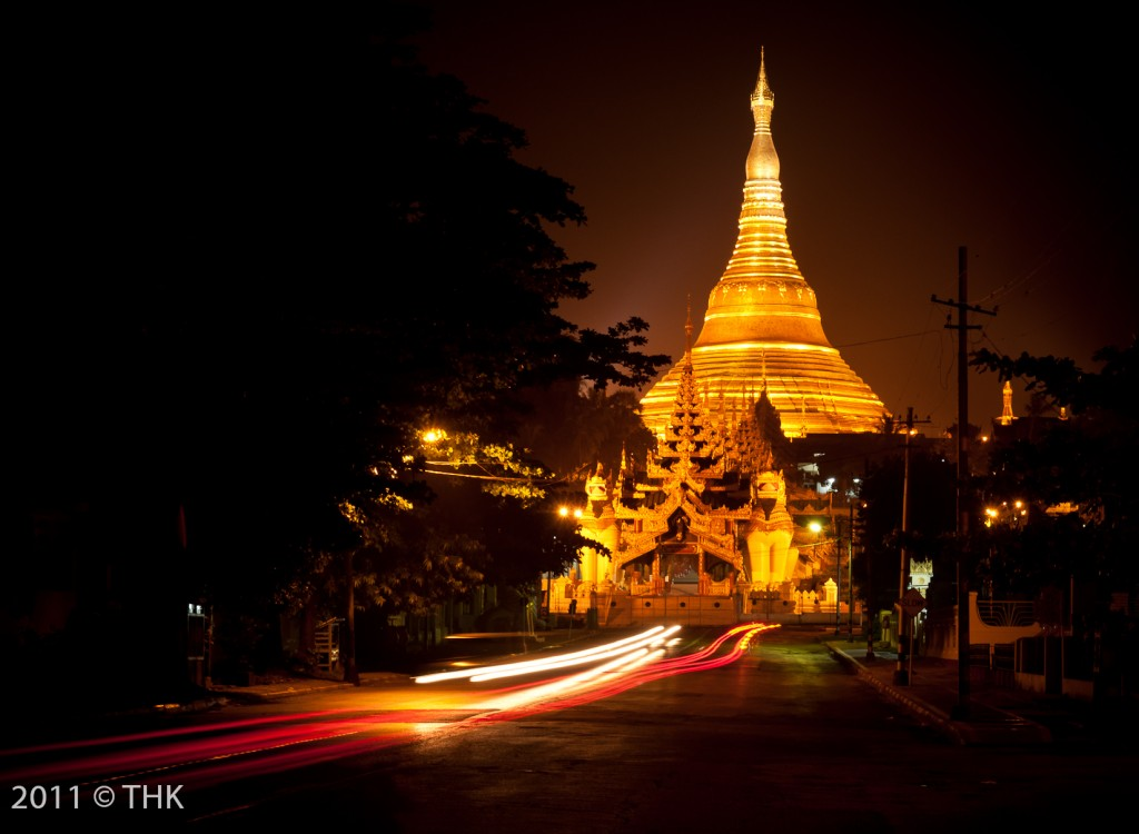 Shwedagon from the South (Shwedagon Pagoda Road)